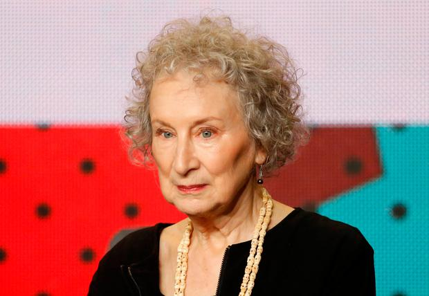 Writer Margaret Atwood attends the press conference for the miniseries