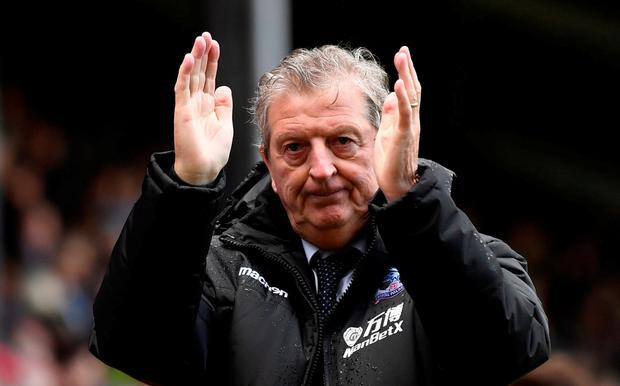 Crystal Palace manager Roy Hodgson looks dejected after the match