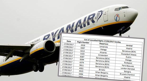 Ryanair reveals raft of cancelled flights for next three days - with over 20 to and from Dublin