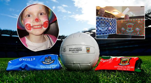 Aoibheann (inset) passed away in 2009. Aoibheann and her father Jimmy's charity, Aoibheann's Pink Tie, will remember all cancer victims at Croke Park