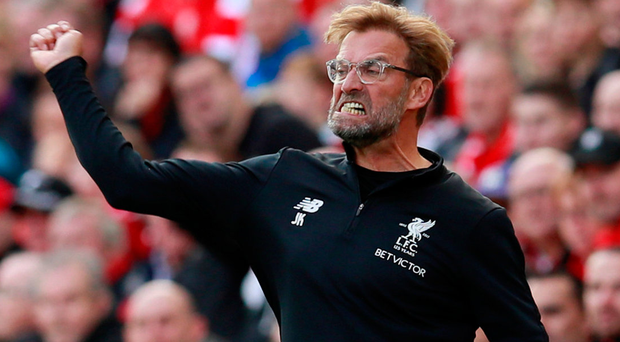 Jurgen Klopp can't hide his frustration as Liverpool fail to put Burnley away at Anfield. Photo: Reuters