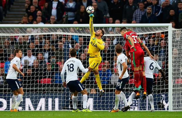 Hugo Lloris of Tottenham Hotspur makes a save. Photo: Getty Images