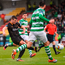 Dundalk's Patrick McEleney shoots to score his side's second goal at Tallaght Stadium. Photo: Sportsfile