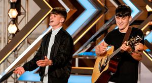 The Price Brothers during episode 5 of the ITV1 talent show, The X Factor: Tom Dymond/Syco/Thames/ITV Plc/PA Wire
