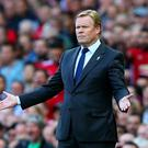 Ronald Koeman, Manager of Everton reacts during the Premier League match between Manchester United and Everton at Old Trafford on September 17, 2017 in Manchester, England. (Photo by Alex Livesey/Getty Images)