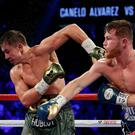 "Golovkin branded Byrd's scorecard ""terrible, unbelievable"" after landing 218 punches to Canelo's 169. Image: AP Photo/John Locher"