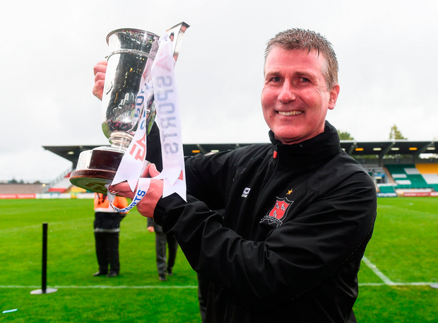 Stephen Kenny has plenty to smile about after Saturday's victory. Photo by Stephen McCarthy/Sportsfile