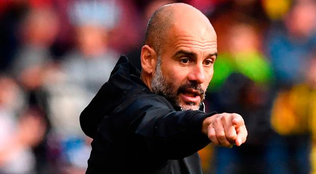 """Guardiola: """"They are having a big impact."""" Photo: Getty Images"""