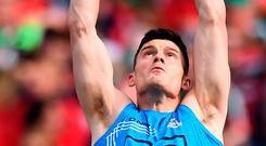 Diarmuid Connolly of Dublin warms up. Photo: Sportsfile