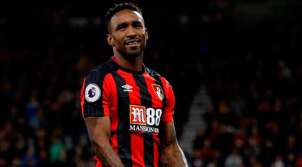 'Every other player on the pitch is ball-watching, and Defoe is the only one already on the next page of the move as he shifts his weight in anticipation of a pass.' Photo: Reuters/Peter Nicholls
