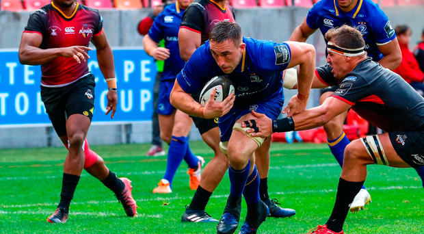 Leinster's Jack Conan drives over his try against the Southern Kings. Photo by Richard Huggard/Sportsfile