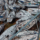 Boats piled up at Nanny Cay on Tortola in the British Virgin Islands in the wake of Hurricane Irma. Photo: PA