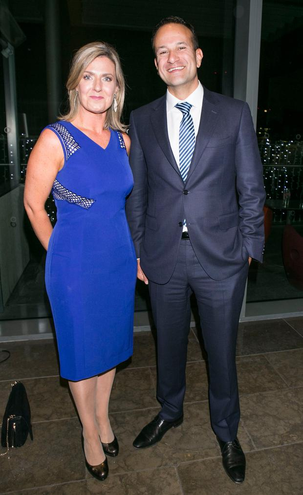 Taoiseach Leo Varadkar and Maria Bailey TD at the Gibson for the All Ireland Winners Banquet in 2017