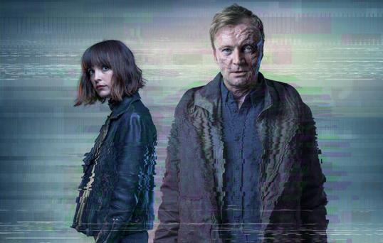 Jodie Balfour and Ricahrd Dormer in Rellik. PIC: BBC
