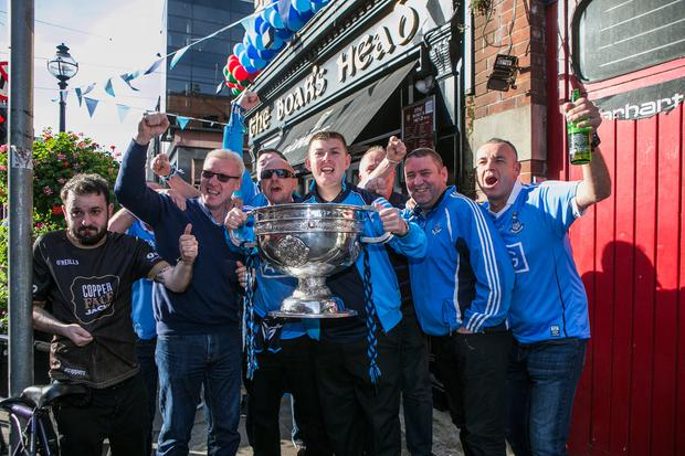Dublin fans at the Boars Head on Capel St.