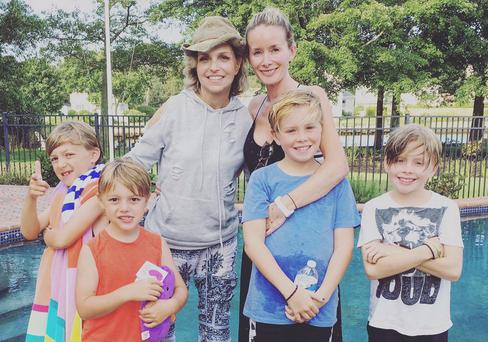 Ilysa and Catriona with their boys