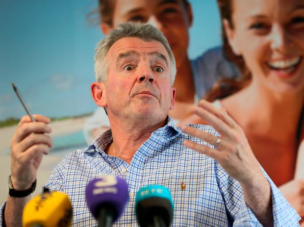 Ryanair's CEO Michael O Leary pictured during a press conference where he addressed the recent Ryanair flight cancellations at Ryanair's HQ in Dublin. Photo: Frank McGrath