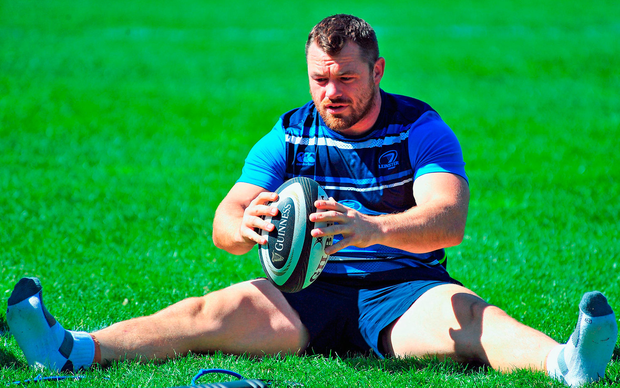Cian Healy during Leinster squad training in Cape Town. Photo: Sportsfile