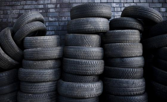 From October 1, motorists will pay €3.44 to ensure that each car tyre being replaced is properly disposed of. Stock Image: GETTY