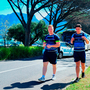 James Tracy and Joey Carbery arriving for Leinster's training session at Bishop's College in Cape Town yesterday. Photo: Sportsfile