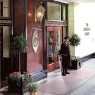 The revolving door entrance at the Berkeley Court Hotel