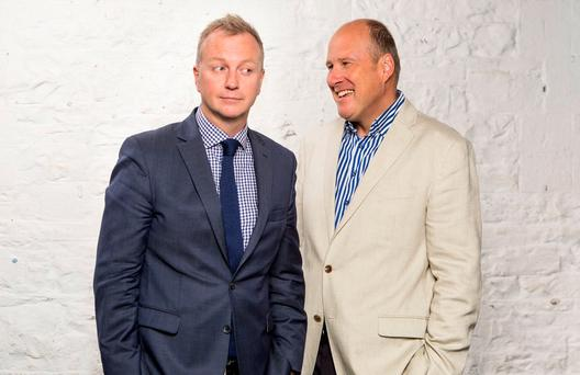 Matt Cooper and Ivan Yates will co-anchor 'The Tonight Show', taking over the TV3 slot from Vincent Browne. Photo: Kip Carroll