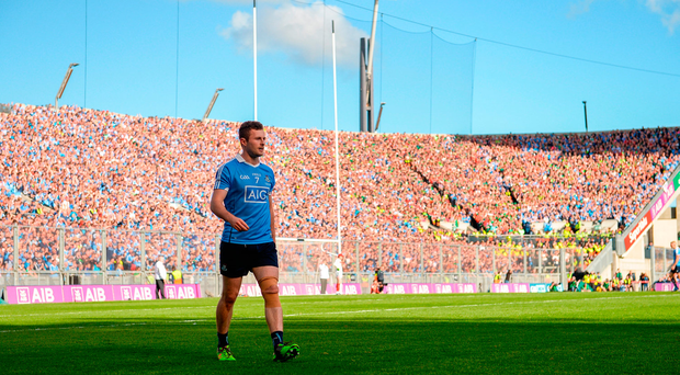 Dublin's Jack McCaffrey leaves the field during the GAA Football All-Ireland Senior Championship Final match between Dublin and Mayo. Photo: Sportsfile