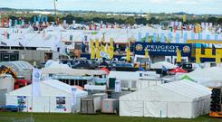 Setting up for the Ploughing Championships in Screggan, Co.Offaly. Photo: Justin Farrelly
