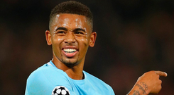 Gabriel Jesus of Manchester City. Photo: Getty Images