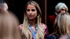 Vogue Williams outside House of Holland during London Fashion Week September 2017 on September 16, 2017 in London, England. (Photo by Christian Vierig/Getty Images)