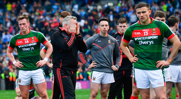 17 September 2017; Mayo manager Stephen Rochford following his side's defeat in the GAA Football All-Ireland Senior Championship Final match between Dublin and Mayo at Croke Park in Dublin. Photo by Ramsey Cardy/Sportsfile