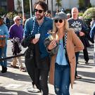 Danny O'Reilly and girlfriend Emma Swift arrive for the Dublin V Mayo All Ireland GAA football final 2017 at Croke Park
