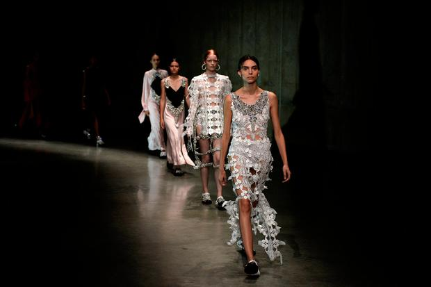 370c49438523 Models display creations from the Christopher Kane Spring Summer 2018 show  at London Fashion Week