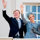 King Willem-Alexander of The Netherlands and Queen Maxima of The Netherlands of the Netherlands at the balcony of Palace Noordeinde during Prinsjesdag on September 19, 2017 in The Hague, Netherlands. Prinsjesdag is the annual opening of the Dutch Parliamentary year. (Photo by Patrick van Katwijk/Getty Images)