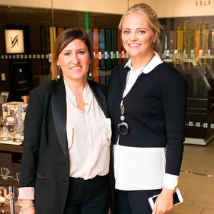 Eva Pederzini and Annabel Rayer at the launch of Nespresso's Autumn/Winter showcase at its Duke Street boutique, Dublin