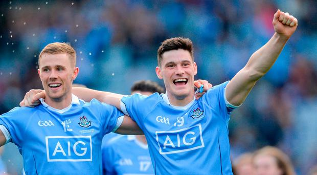 Paul Mannion, left, and Diarmuid Connolly were on opposing teams last week