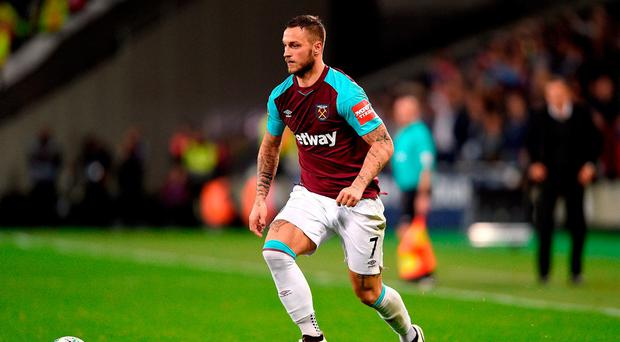 West Ham United's Marko Arnautovic