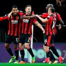 AFC Bournemouth Josh King (left) celebrates scoring his side's winner