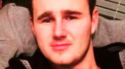 Ciaran Ryan (23) is accused of carrying a gun on a train
