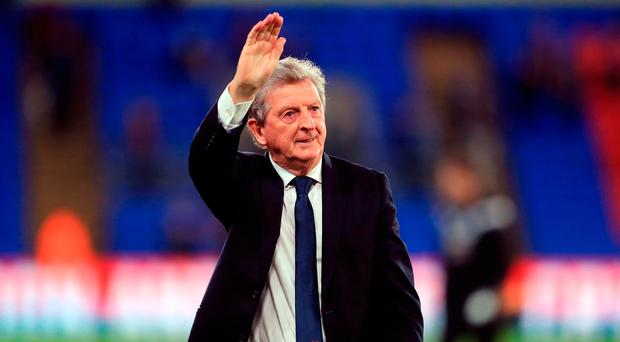 Crystal Palace manager Roy Hodgson acknowledges the fans after the match Photo: Adam Davy/PA Wire