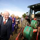 Ploughing Championships 2017. President Michael D. Higgins and his wife Sabina at the Championships. Picture; Gerry Mooney