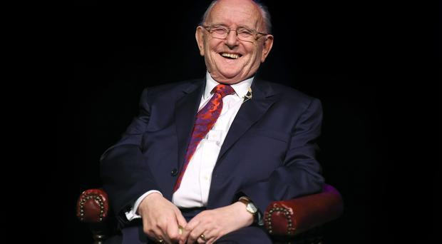 Jimmy Magee on stage at Jimmy Magee's 'Around the World in 80 Years' in January 2016