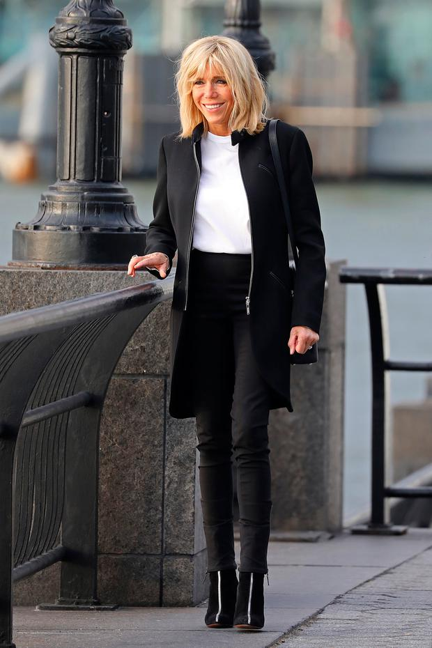 2bee8d0cdae French First Lady Brigitte Macron Takes a Walk along the Hudson River on  September 18,