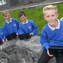 Pictured left to right: Thomas Keady, Luke O'Flynn, Darragh Judge and Aidan Boland from Coláiste Naomh Éinne, Inis Mór