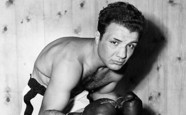 """Jake LaMotta was nicknamed """"The Raging Bull"""" for his toughness in the ring CREDIT: GETTY IMAGES"""