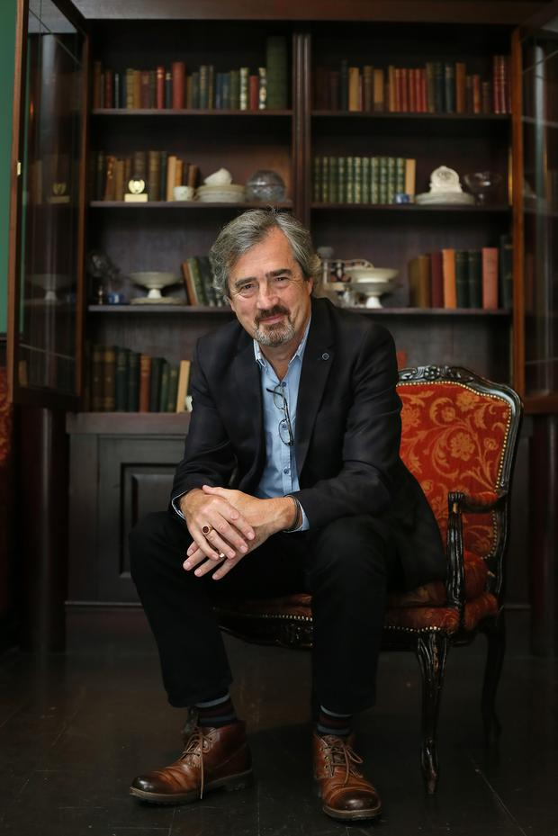 Literary light: Sebastian Barry photographed in Central Hotel, Exchequer Street, Dublin 2; centralhoteldublin.com. Picture: Frank McGrath