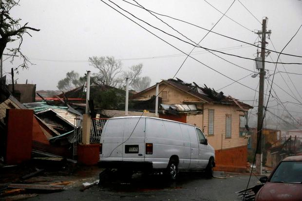 Damage is seen after the area was hit by Hurricane Maria in Guayama, Puerto Rico September 20, 2017. REUTERS/Carlos Garcia Rawlins