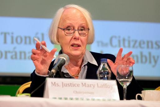 Ms Justice Mary Laffoy. Photo: Tony Gavin