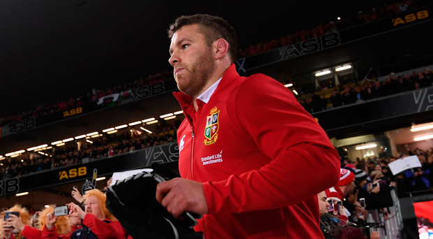 Sean O'Brien enters the field for the Lions first test against New Zealand this summer. Photo: Sportsfile