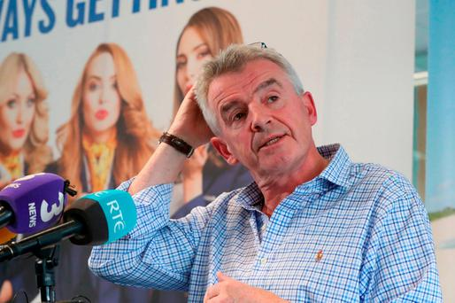 Michael O'Leary will face shareholders at today's AGM. Photo: PA